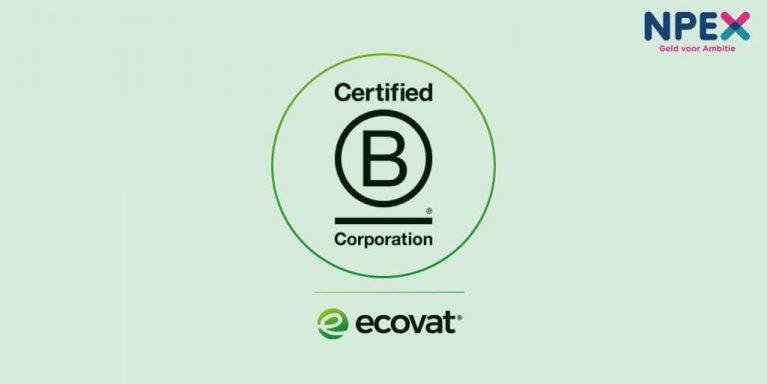 Persbericht: Ecovat kwalificeert zich als 'B Corp' onderneming